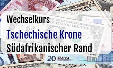 Tschechische Krone in Südafrikanischer Rand