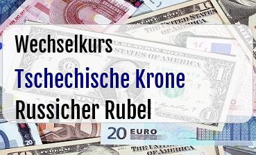 Tschechische Krone in Russicher Rubel