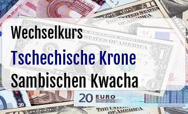 Tschechische Krone in Sambischen Kwacha