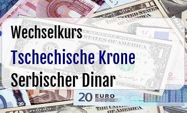 Tschechische Krone in Serbischer Dinar