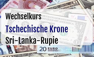 Tschechische Krone in Sri-Lanka-Rupie