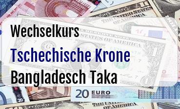 Tschechische Krone in Bangladesch Taka