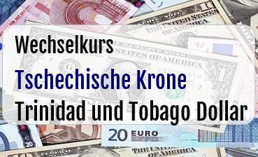 Tschechische Krone in Trinidad und Tobago Dollar