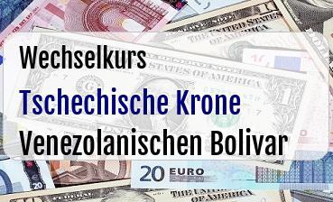Tschechische Krone in Venezolanischen Bolivar