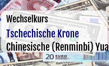 Tschechische Krone in Chinesische (Renminbi) Yuan