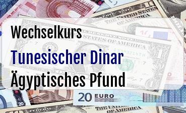 Tunesischer Dinar in Ägyptisches Pfund