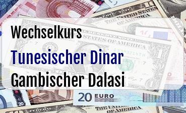 Tunesischer Dinar in Gambischer Dalasi
