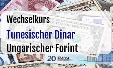 Tunesischer Dinar in Ungarischer Forint