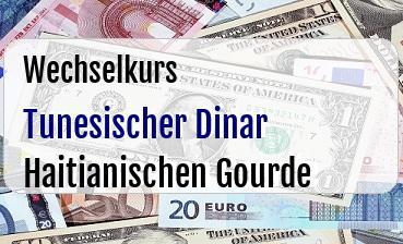 Tunesischer Dinar in Haitianischen Gourde