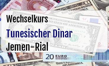 Tunesischer Dinar in Jemen-Rial