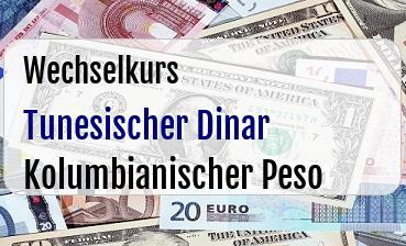 Tunesischer Dinar in Kolumbianischer Peso