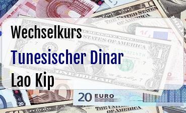 Tunesischer Dinar in Lao Kip