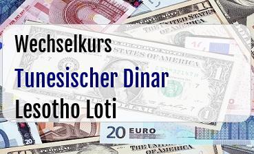 Tunesischer Dinar in Lesotho Loti
