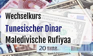 Tunesischer Dinar in Maledivische Rufiyaa