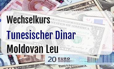 Tunesischer Dinar in Moldovan Leu