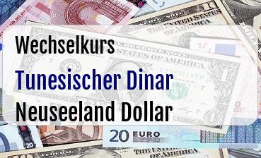 Tunesischer Dinar in Neuseeland Dollar