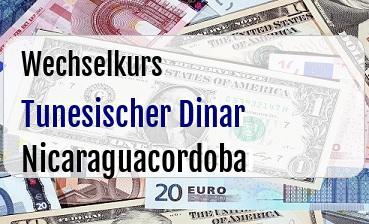 Tunesischer Dinar in Nicaraguacordoba