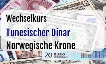 Tunesischer Dinar in Norwegische Krone