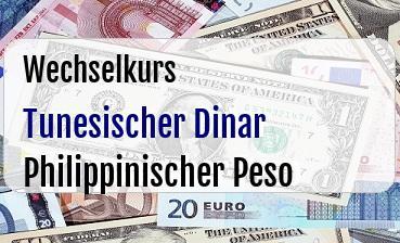 Tunesischer Dinar in Philippinischer Peso