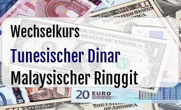 Tunesischer Dinar in Malaysischer Ringgit