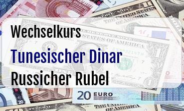 Tunesischer Dinar in Russicher Rubel
