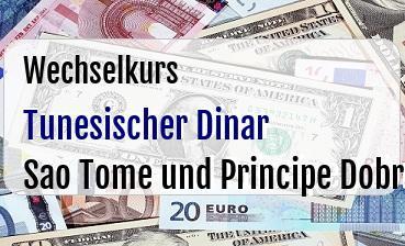 Tunesischer Dinar in Sao Tome und Principe Dobra