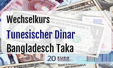 Tunesischer Dinar in Bangladesch Taka