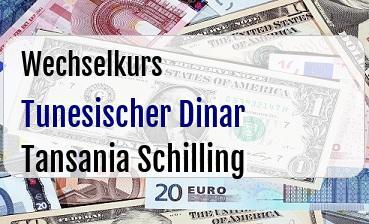 Tunesischer Dinar in Tansania Schilling