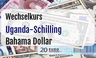 Uganda-Schilling in Bahama Dollar