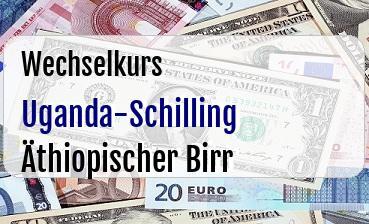 Uganda-Schilling in Äthiopischer Birr