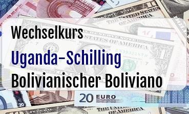 Uganda-Schilling in Bolivianischer Boliviano