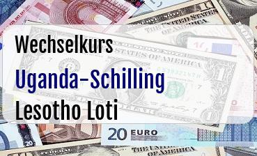 Uganda-Schilling in Lesotho Loti