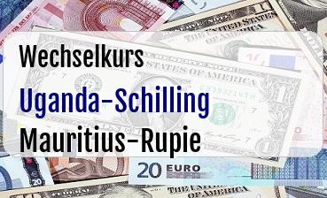 Uganda-Schilling in Mauritius-Rupie