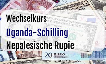 Uganda-Schilling in Nepalesische Rupie