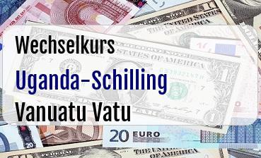 Uganda-Schilling in Vanuatu Vatu