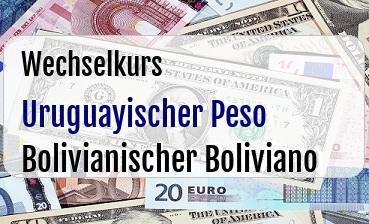 Uruguayischer Peso in Bolivianischer Boliviano