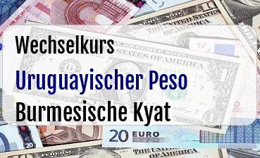 Uruguayischer Peso in Burmesische Kyat