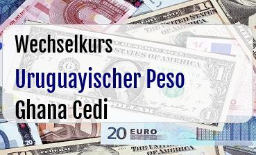 Uruguayischer Peso in Ghana Cedi
