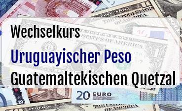 Uruguayischer Peso in Guatemaltekischen Quetzal