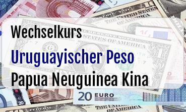 Uruguayischer Peso in Papua Neuguinea Kina