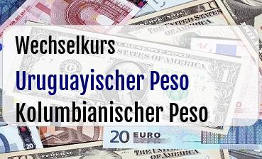 Uruguayischer Peso in Kolumbianischer Peso