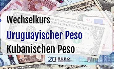 Uruguayischer Peso in Kubanischen Peso