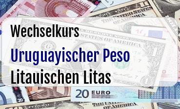 Uruguayischer Peso in Litauischen Litas
