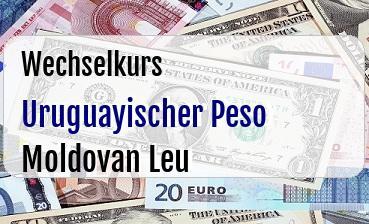 Uruguayischer Peso in Moldovan Leu