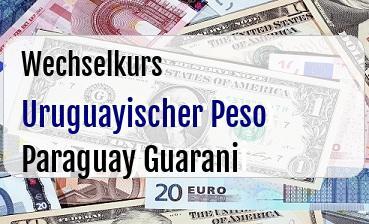Uruguayischer Peso in Paraguay Guarani
