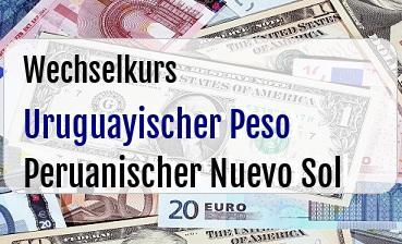 Uruguayischer Peso in Peruanischer Nuevo Sol