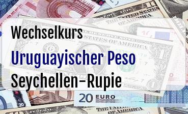 Uruguayischer Peso in Seychellen-Rupie