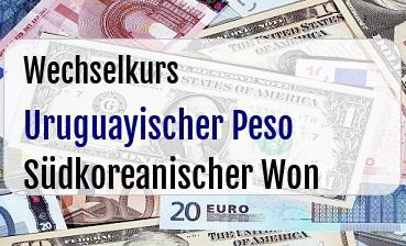 Uruguayischer Peso in Südkoreanischer Won