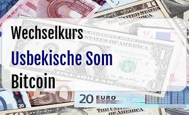 Usbekische Som in Bitcoin