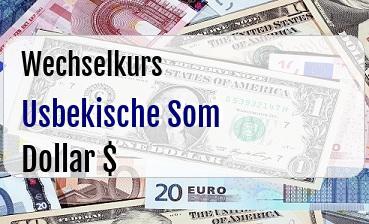 Usbekische Som in US Dollar